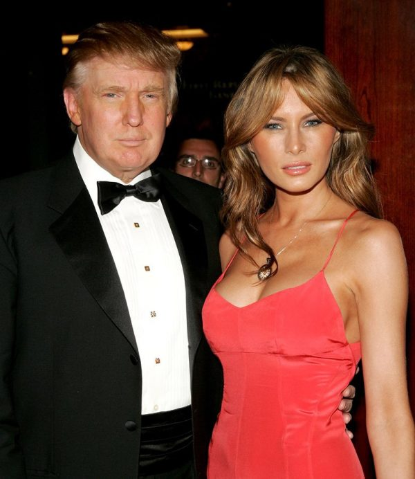 Donalid Trump with his wife
