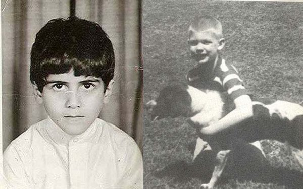 Infamous people childhood photos