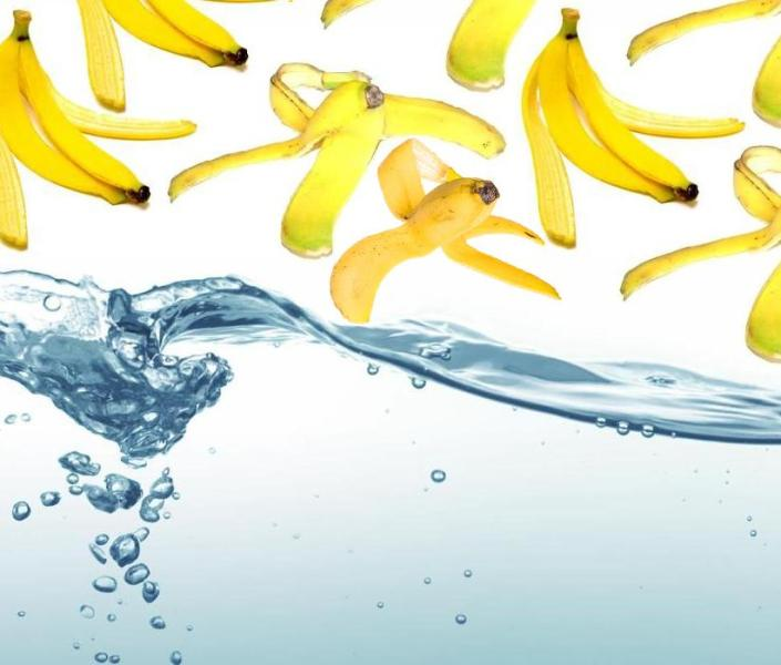 banana peels water purifier