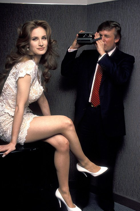 trump taking picture of playboy model Bridget Marks